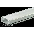 Профиль для светодиодной ленты низкий ПФ-15 (1м)