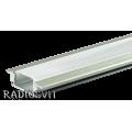 Профиль для светодиодной ленты низкий ПФ-16 (1м) врезной