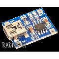 Зарядное устройство для Li-Ion, Li-Pol аккумуляторов на TP4056 miniUSB